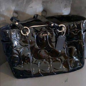 Patent Leather black Coach purse